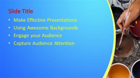Free Paint PowerPoint Template - Free PowerPoint Templates