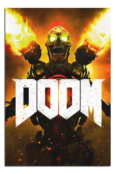 Doom 2016 Video Game Cover Poster | iPosters | Ps4 games