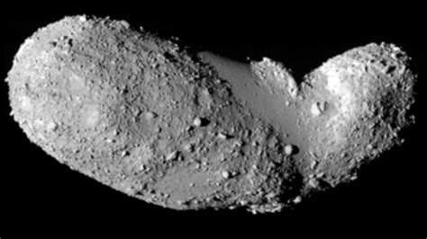 Avalanche on an asteroid, due to close pass with Earth