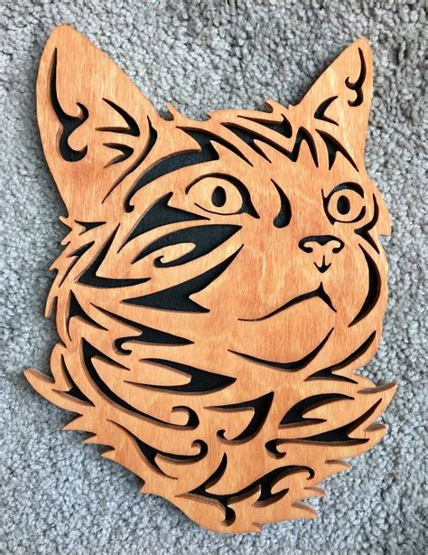 Tribal Kitty Face by MadeiraFret