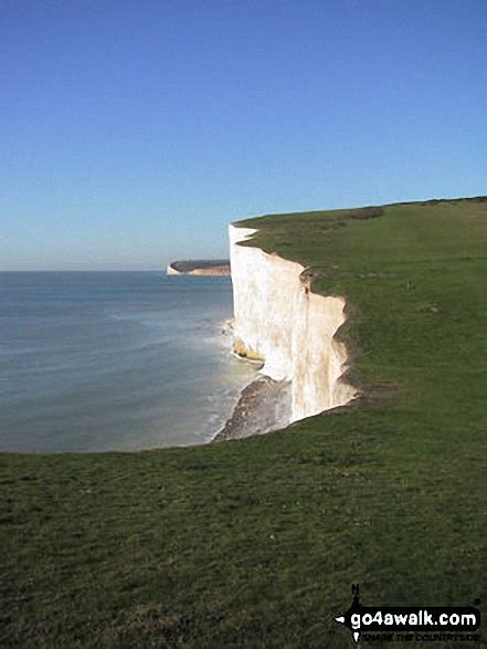 The Seven Sisters Chalk Cliffs in The South Downs, East