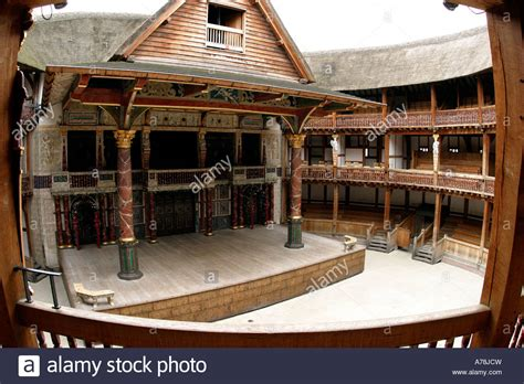 UK London Bankside Shakespeares Globe Theatre stage and