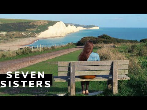 """""""The Seven Sisters (chalk cliffs), looking east, Sussex"""