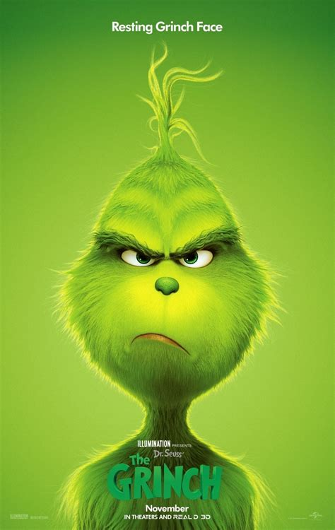 The Grinch shows off his resting Grinch face on new poster