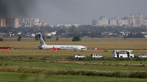 Russian Plane Crash-Lands in Cornfield, and Reports Say