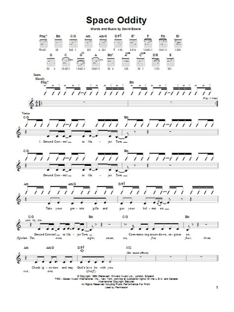 Space Oddity | Sheet Music Direct