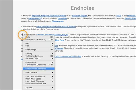How to add endnotes to a document | Adobe InDesign CC