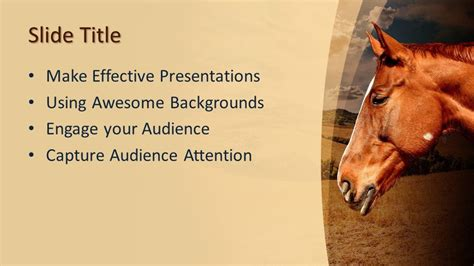 Free Animal Equine PowerPoint Template - Free PowerPoint