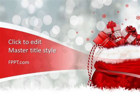 Free Christmas Gift PowerPoint Template - Free PowerPoint