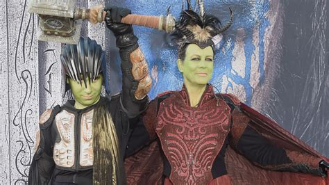 EXCLUSIVE: Jamie Lee Curtis and Son Cosplay at 'Warcraft