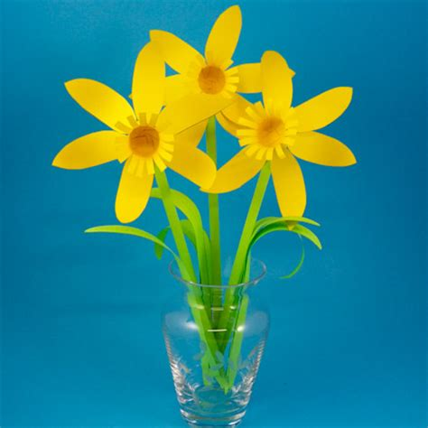 Paper Daffodil Patterns - Spring Flower Bouquet - Aunt