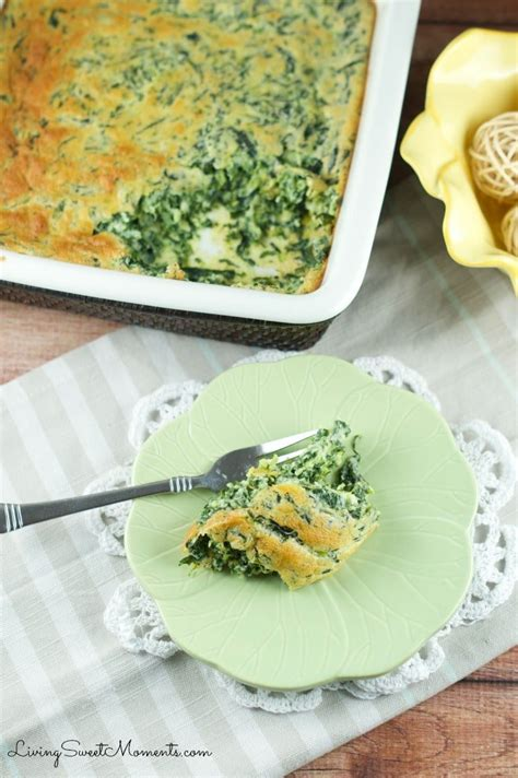 Easy Spinach Souffle Recipe - Living Sweet Moments