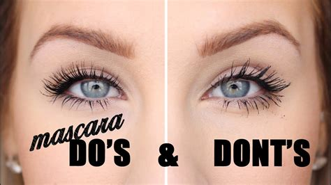 MASCARA DO'S AND DONT'S - YouTube
