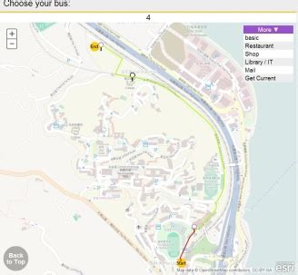 iCUHK can provide optimized routes for navigating from one