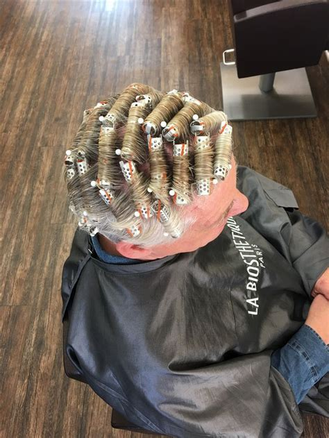 He looks so yummy in curlers | Hair rollers